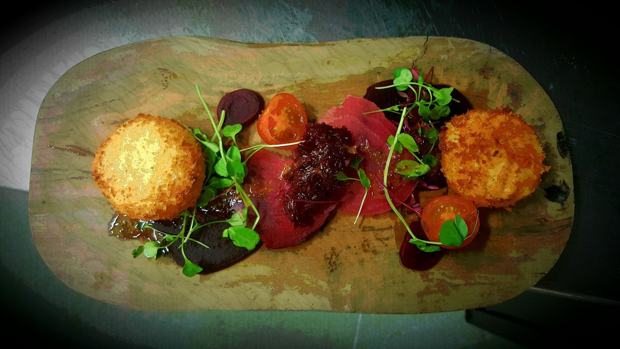 Goats cheese, beetroot