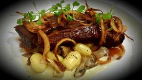 Beef short rib, mushroom gnocchi