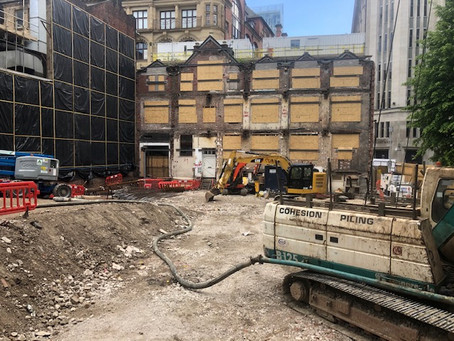 Work resumes on Moxy Manchester