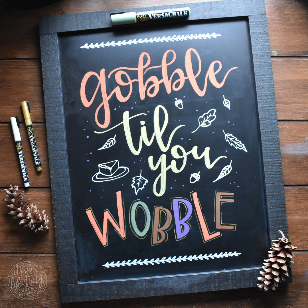 Gobble Wobble Chalk Art 01