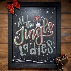 Jingle Ladies Chalk Art