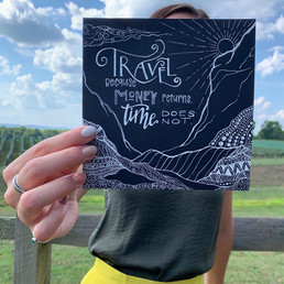 Travel White Ink Lettering