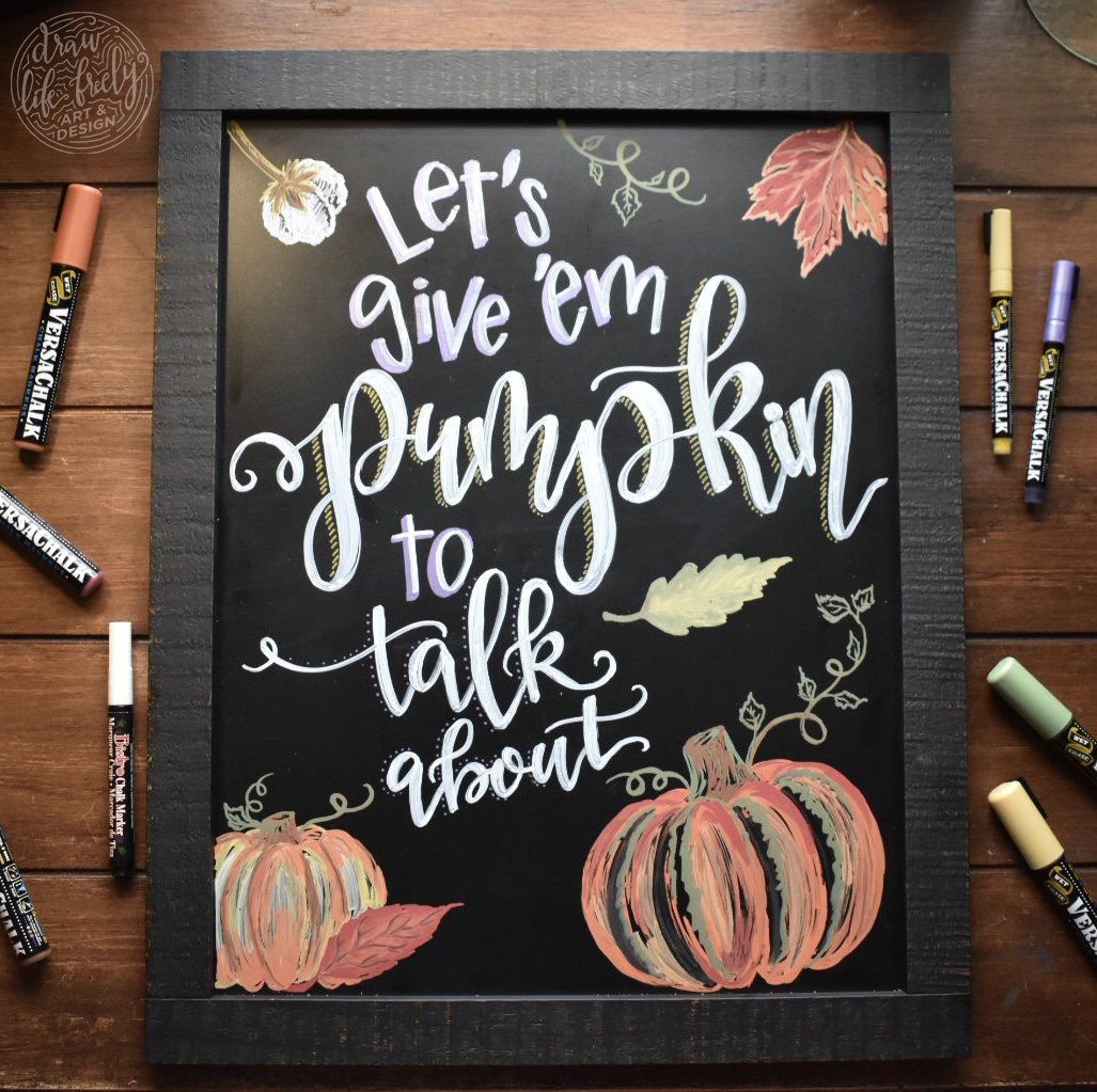 Pumpkin to talk about Chalk Art