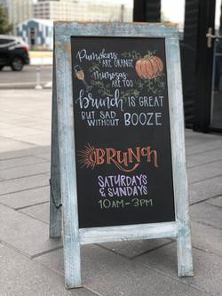 Pumpkin Poem Brunch Chalk Art