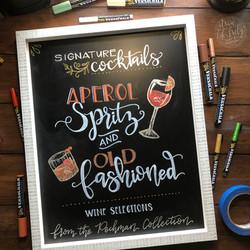 Signature Drinks Chalk Art