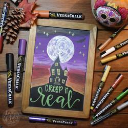 Creep it real Chalk Art 01