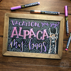 Alpaca my Bags Chalk Art