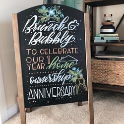 1st Time Home Owner Chalk Art