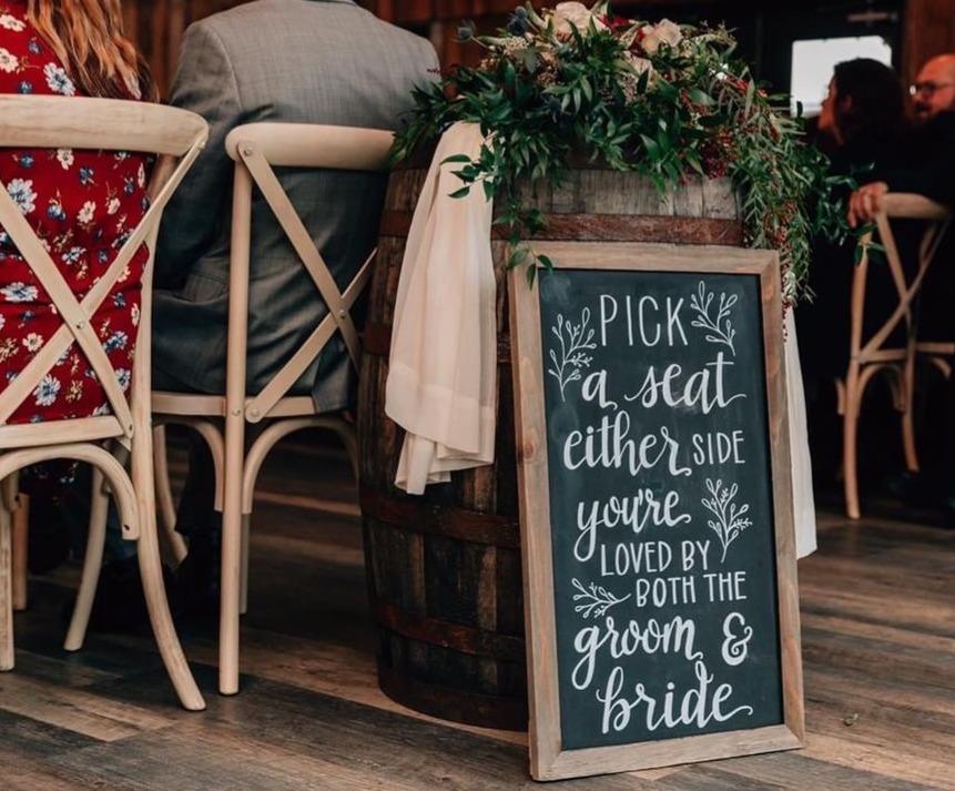 Bride Groom Chalk Art