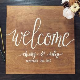 Custom Painted Wedding Welcome Sign.JPG