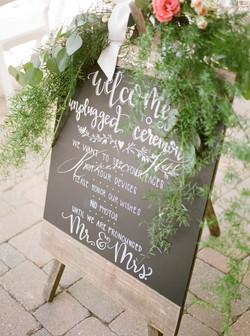 Wedding Ceremony Chalk Art