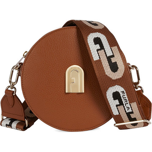 Furla Sleek Mini Round - Cognac