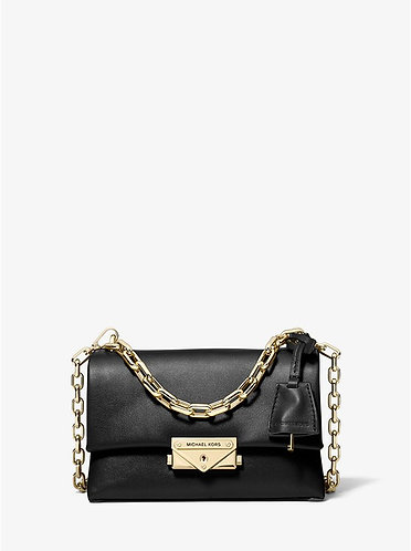 Cece XS Leather Crossbody Bag - Black