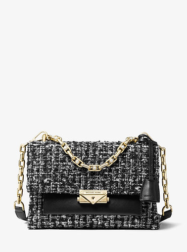Cece MD Tweed Crossbody/ Shoulder Bag - Black