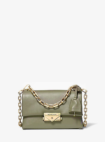 Cece XS Leather Crossbody Bag - Army Green