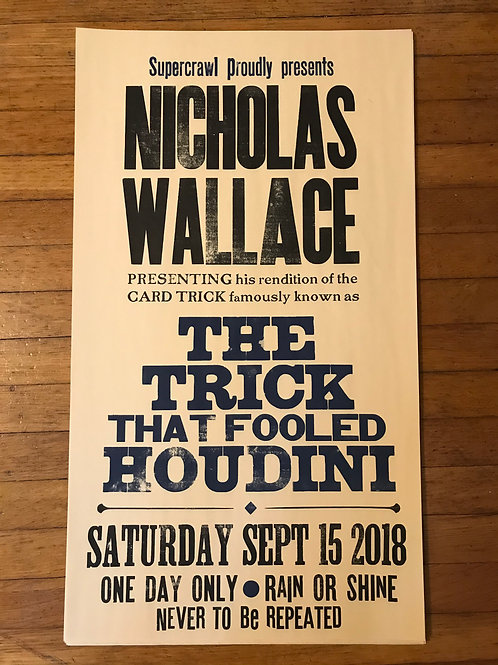TRICK THAT FOOLED HOUDINI poster