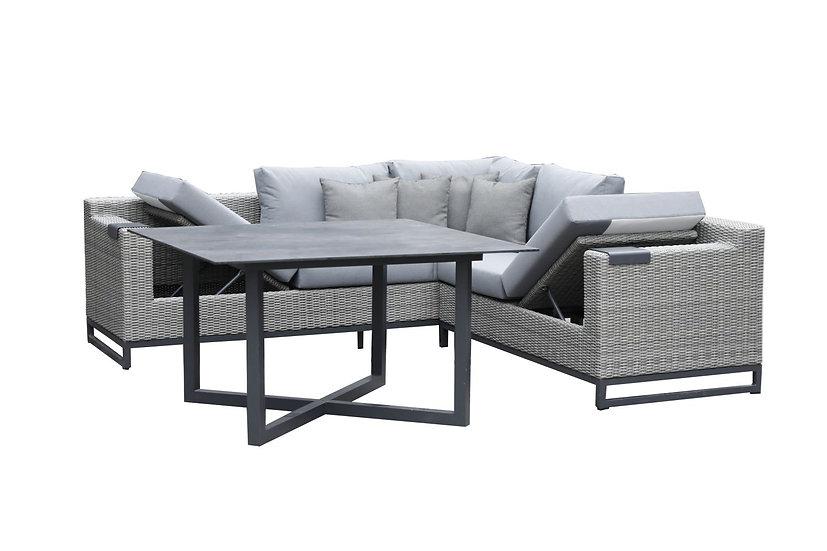ZEBRA  SOHO Dining-Lounge mit Dining-Tisch 130x130x72