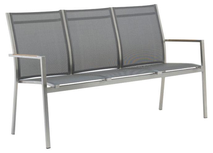 Zebra ONE  Edelstahl-Textilen Bank 3-sitzer