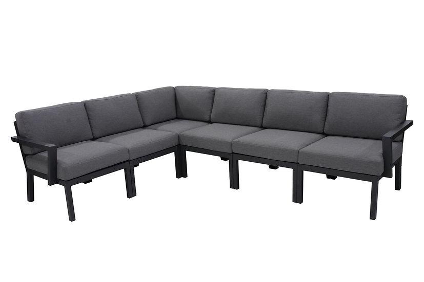 LOUIS  Lounge  ca. 250x290  mit Alu-Armlehnen