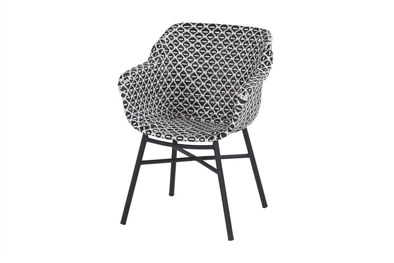 Hartman  DELPHINE  Dining-Chair  schwarz-weiß