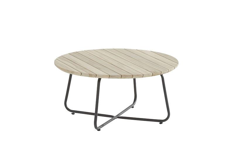 4 Seasons Outdoor  AXEL  Teak Lounge Tisch rund D73  H35  anthrazit