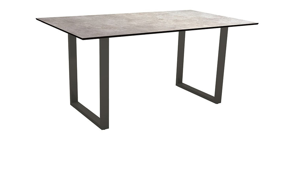Stern  Kufentisch 160x90cm Alu anthrazit  Metallic grau