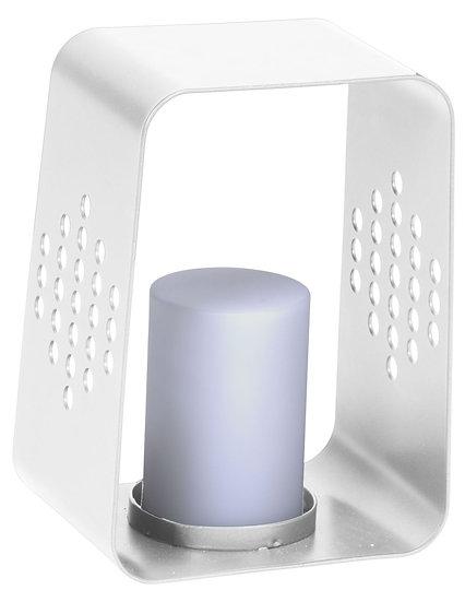 Stern  LED Leuchte 20x22x30cm Aluminium weiß