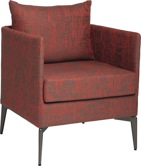 STERN  MARTA  Sessel  Aluminium Bezug und Kissen  rot