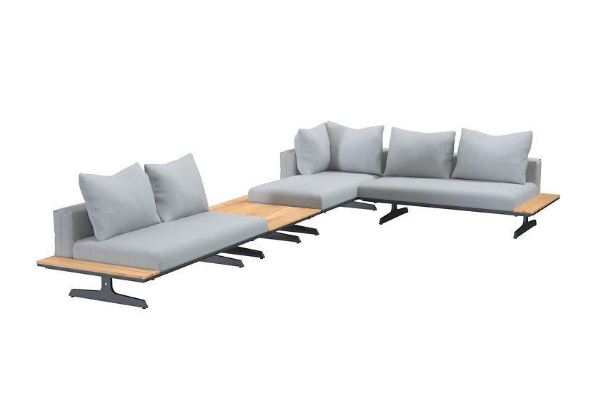 4 Seasons Outdoor  ENDLESS  Lounge mit frei verbaubaren Rückenpolstern