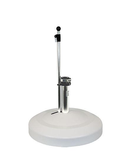 LIRO  Schirmständer fahrbar 60kg  Schnellspan.  weiß