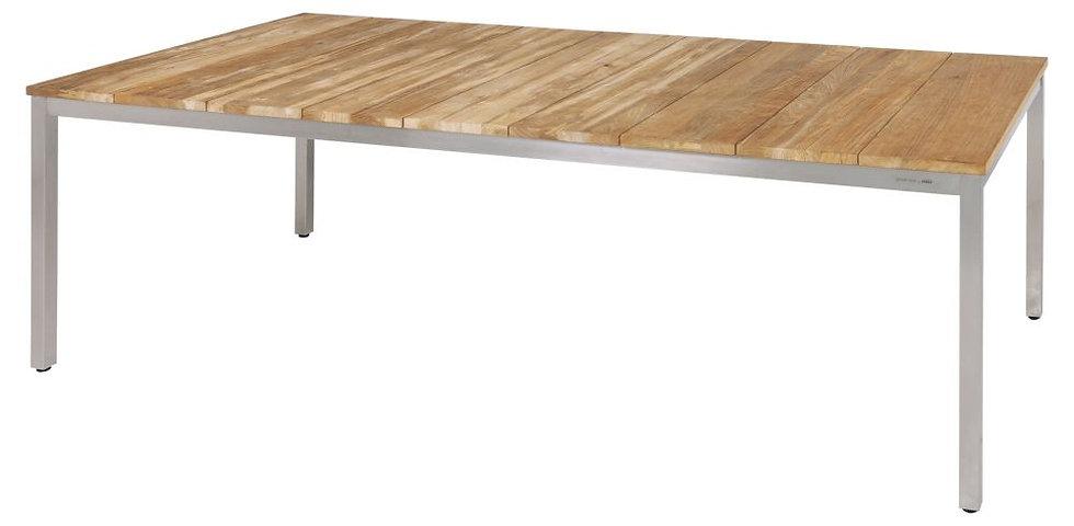 Zebra  NAXOS  Edelstahl-Recy-Teak  Tisch  220x100cm