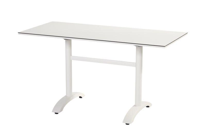 Hartman  SOPHIE  Bistro HPL Tisch 136x68cm abklapp  weiß