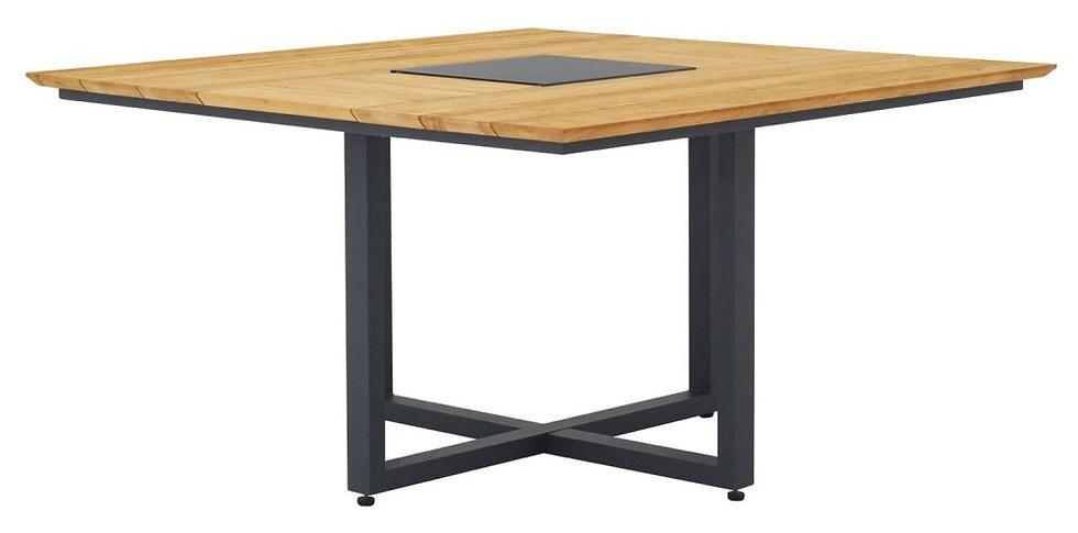 ZEBRA  QUADUX   Alu-Teak Tisch 140x140cm  graphite