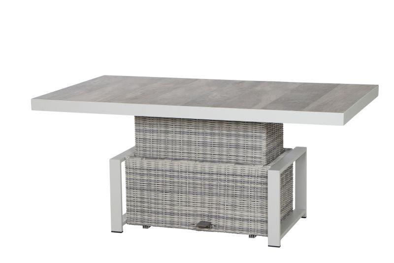 CORIDO Alu-Keramik Lift Tisch 160x90  ice grey