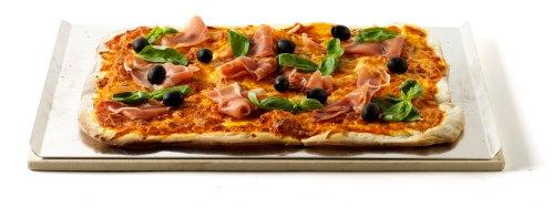 WEBER  Pizzastein 44x30cm Cordierit m. Alublech
