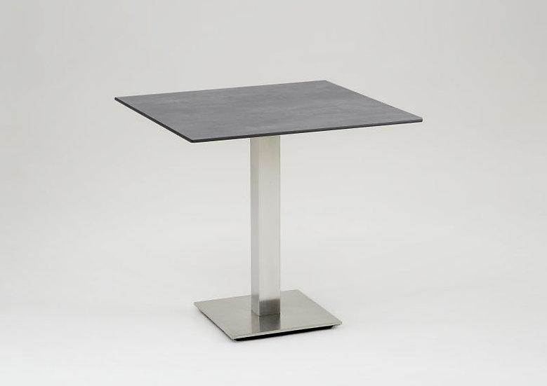 Niehoff  BISTRO   Edelstahl-HPL Tisch abklappbar  81x81  beton