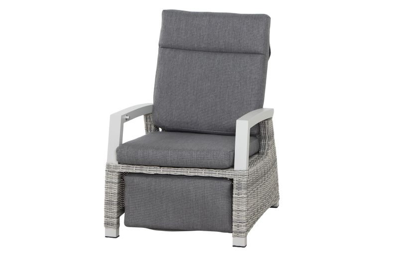 CORIDO Alu+Flecht Lounge Relax HL verstellbar  ice grey