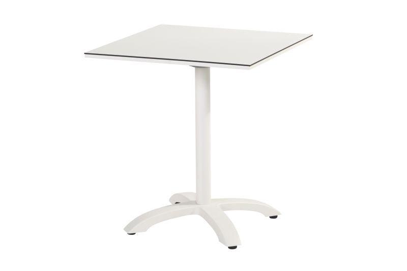 Hartman  SOPHIE  Bistro HPL Tisch 68x68cm abklapp  weiß