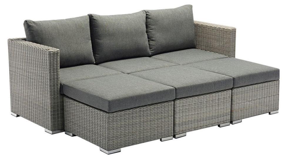 Zebra  JACK LOUNGE  Geflecht Lounge-Set 5-tlg  slate 3016