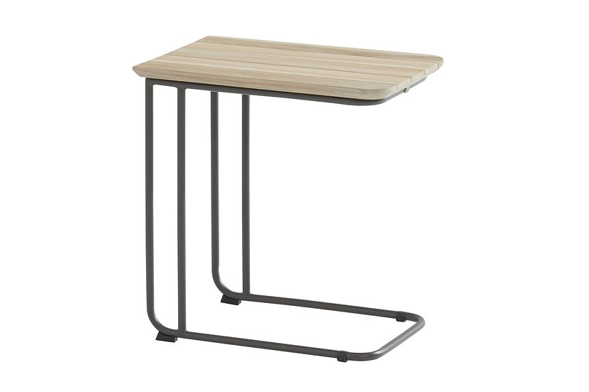 4 Seasons Outdoor  AXEL  Teak Support Table 50x35  H45  anthrazit
