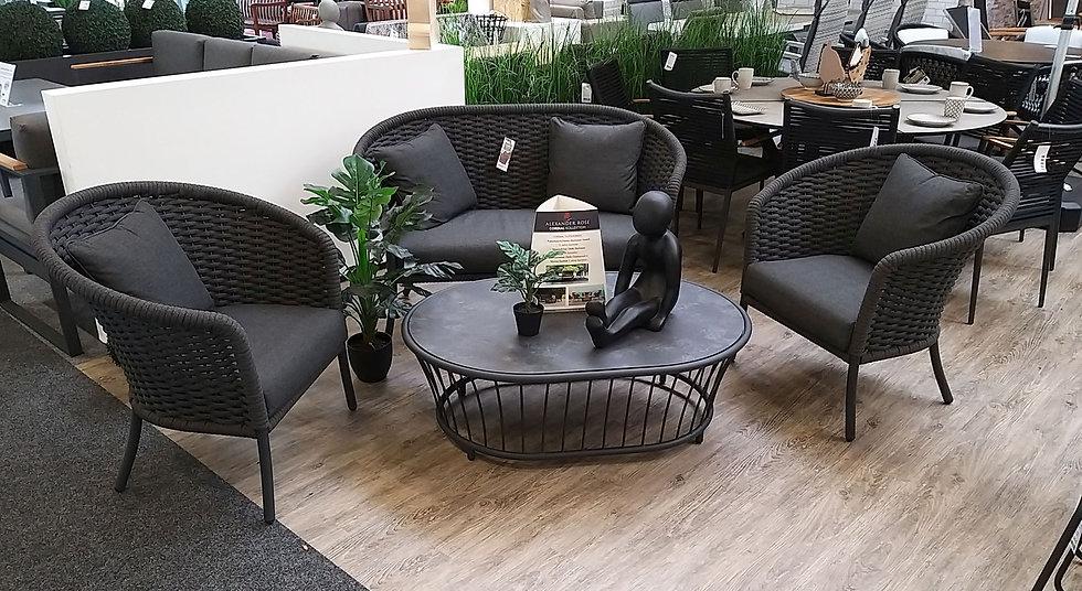 Alexander Rose  CORDIAL  Lounge-Tisch rund 62cm  H40cm  grey