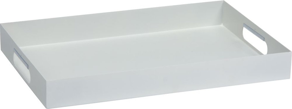 Stern  Alu Tablett ca. 60x40x7cm  weiß