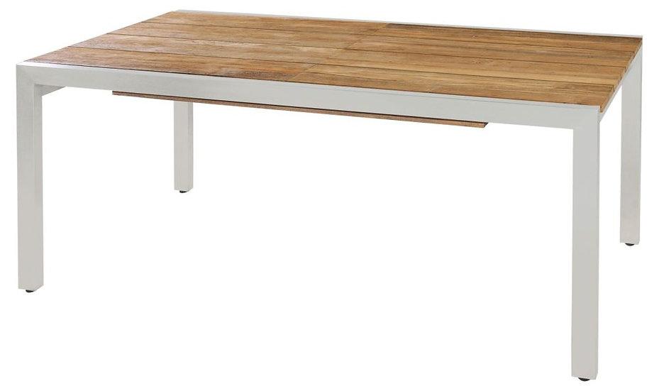 Zebra  KUBEX  Edelstahl-Recy-Teak  AZ-Tisch  220-340x100