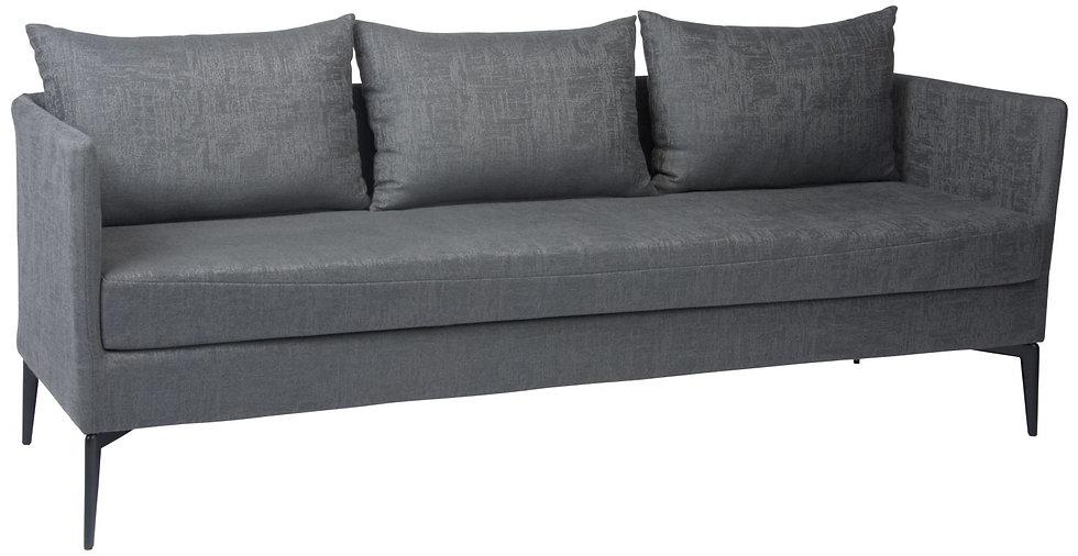 Stern  MARTA Bank 3-Sitzer  Aluminium Bezug und Kissen