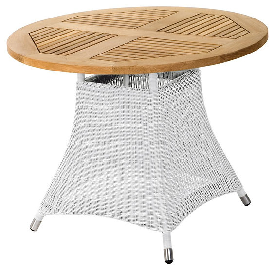 Zebra  LOOMUS  Tisch 100cm rund    silkwhite