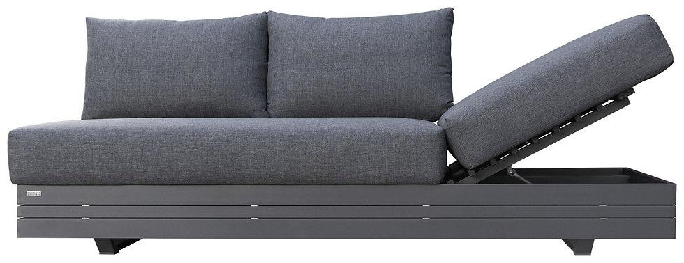 Zebra  CUBO  Alu-Lounge 3-Sitzer Sofa  mit Polster