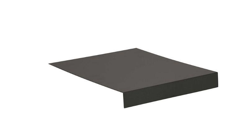 Stern  Alu Tablett L-Form ca. 69x50x7cm  anthrazit