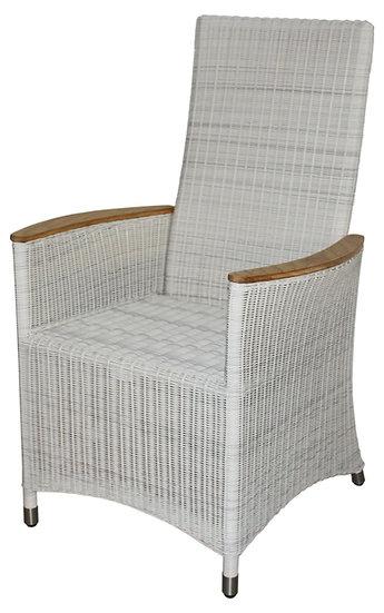 Zebra  LOOMUS  Alu-Flecht Sessel  verstellbarer Rücken  silkwhite