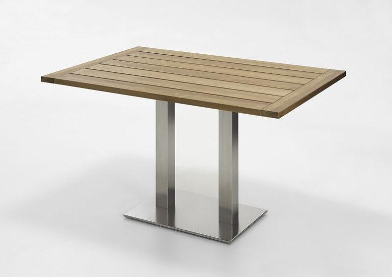 Niehoff  BISTRO   Edelstahl-Teak Tisch abklappbar  120x81cm