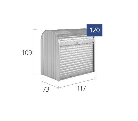 Biohort  Storemax 120  silber